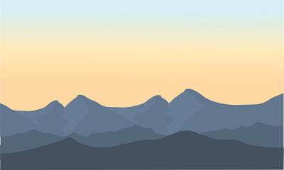 Gray mountain scenery