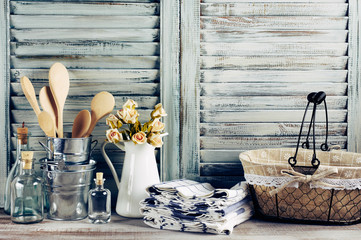 Rustic kitchen still life Wall mural