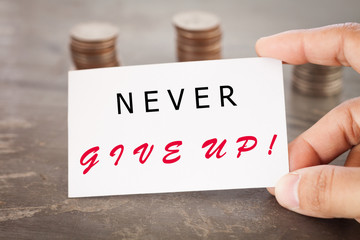 Never give up inspirational quote