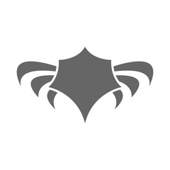 Abstract vector icon - wings logo template