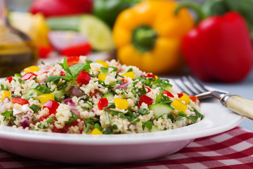 TABBOULEH Salad with cous cous and vegetable.