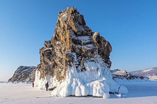 Oltrek island on lake Baikal