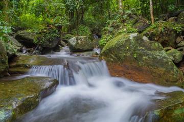 Waterfall in deep rain forest jungle (Krok E Dok Waterfall Sarab
