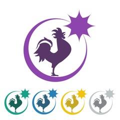 Fowl Farm Animal Icon Logo Vector