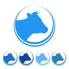 Dairy Milk White Drink Goat Sheep Cow Logo Vector Icon