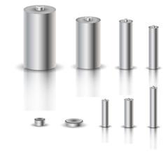 A set of batteries, vector illustration