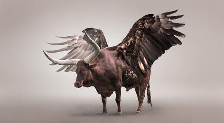 Mystic, winged bull.