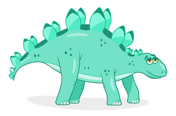 Cartoon dinosaur stegosaurus
