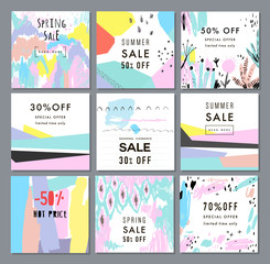 Collection of Sale banners. Sale template, tag, poster.