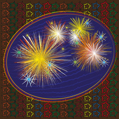 Picture bright cheerful fireworks