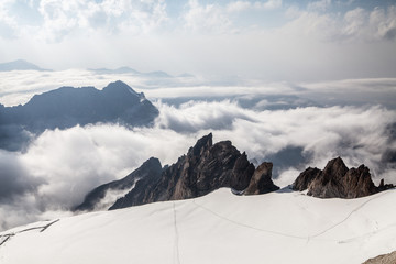 Tian Shan mountains. View from summit
