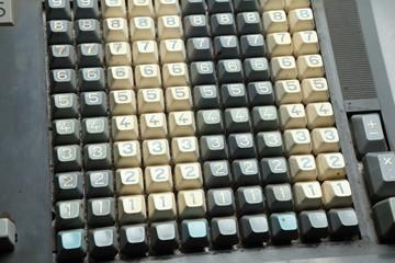 Mechanical calculator keyboard