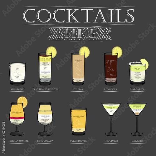 карта рецептов коктейлей