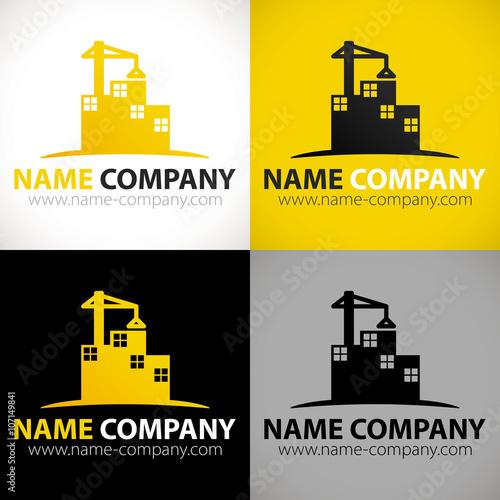 """Extrêmement logo construction bâtiment grue"""" fichier vectoriel libre de droits  NY69"""