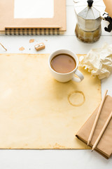 Covering books with brown kraft paper