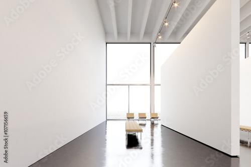Photo exhibition modern galleryopen spaceg white empty canvas photo exhibition modern galleryopen spaceg white empty canvas hanging contemporary art museum sciox Images