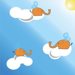Сartoon elephant, elephant