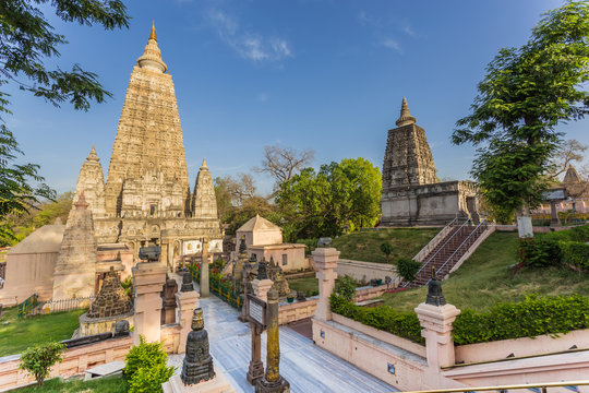 Mahabodhi temple, bodh gaya, India. The site where Buddha attained enlightenment.