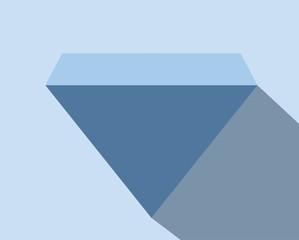 Light Diamond Blue Flat Vector Icon