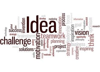Idea, word cloud concept 2