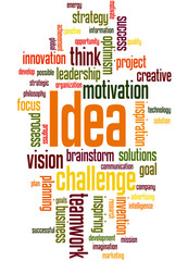 Idea, word cloud concept 8