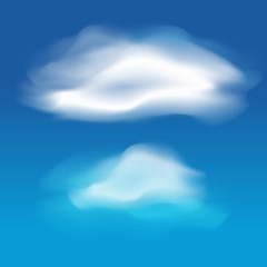 Different white clouds set