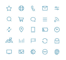 Modern web and mobile application pictograms collection. Lineart
