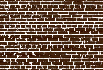 Vector texture of realistic brown old brick wall. Vector illustration