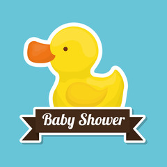 baby shower with toy design, vector illustration