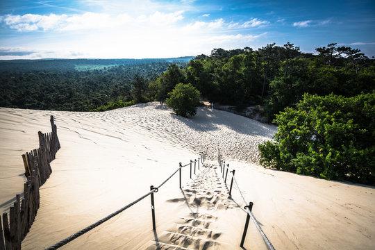 Dune du Pilat at 114 Metres the highest sand dune in Europe near