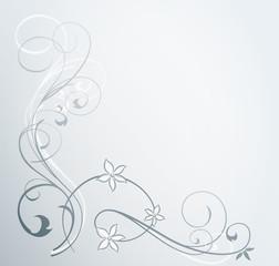 Background Ornament grau