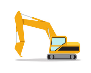 Illustration of excavator on white background