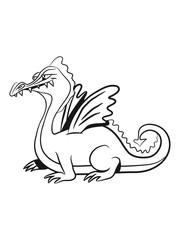Dragon wings tell fairytales