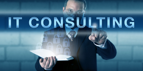 Male Project Manager Pressing IT CONSULTING