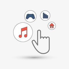 cursor icon design, vector illustration