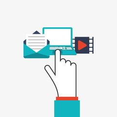 cursor and  icon set design, vector illustration