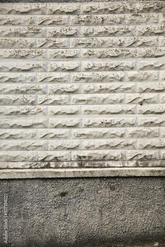 Mattoni Per Recinzione Giardino.Sfondo Muro Mattoni Colorati Recinzione Casa Giardino