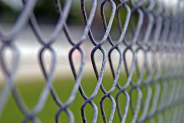 Chain Link Fence Close Up