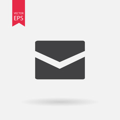 Message closed envelope icon. Mail icon vector, Envelope icon vector, massage icon vector, flat web icon.