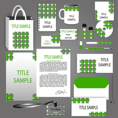 Corporate Identity green vector template