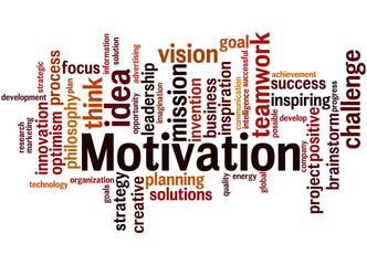 Motivation, word cloud concept 8