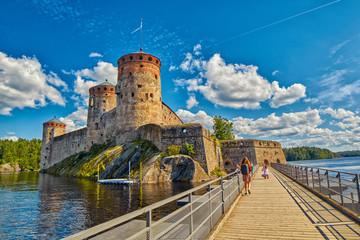 Olavinlinna Olofsborg Castle in Savonlinna, Finland