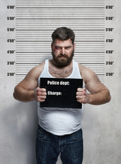 Portrait of a hardened criminal