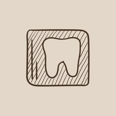 X-ray of tooth sketch icon.