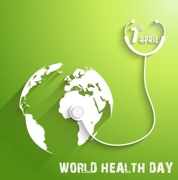 World Health Day on green background