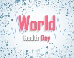 World health day concept with DNA