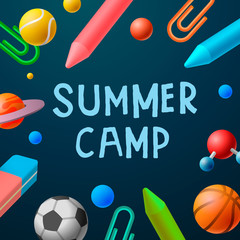 Themed Summer Camp 2016 poster, sport games