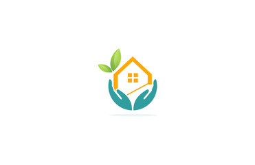 home leaf eco hand logo