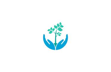 tree hand logo