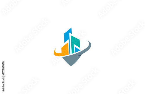 quotmodern city building construction logoquot stock image and